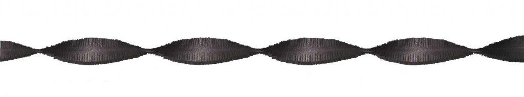 Crepe papier slinger zwart 6 meter