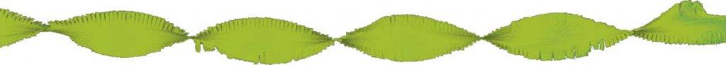 Crepe papier slinger lichtgroen 6 meter