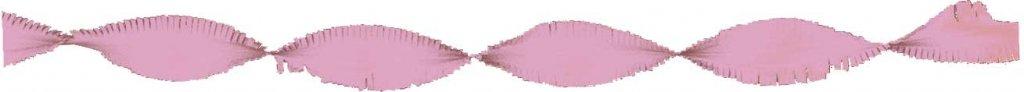 Crepe papier slinger zalmroze 6 meter