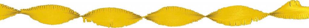 Crepe papier slinger geel 6 meter