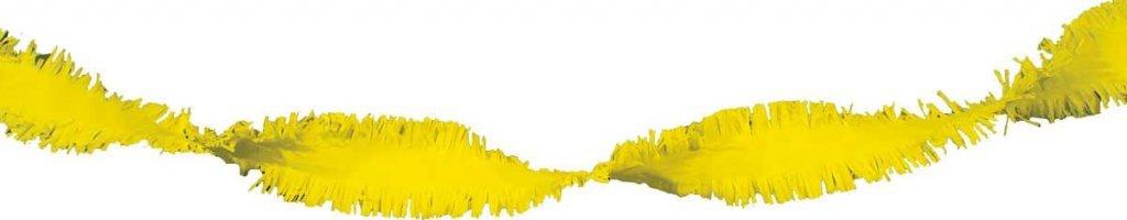 Gele Crepe Papier Slinger - 24 meter