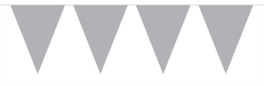 Zilveren Mini Vlaggenlijn - 3 meter