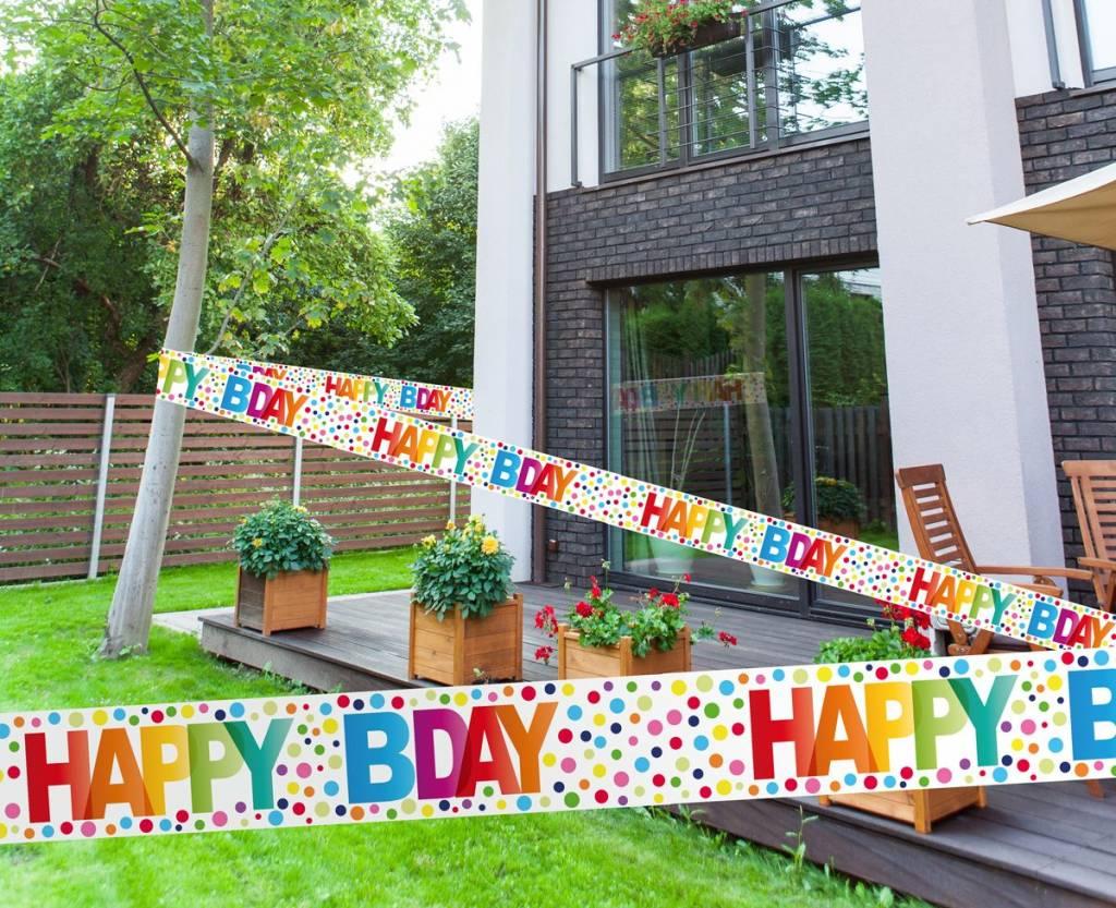 Happy Bday Stippen Markeerlint - 15 meter
