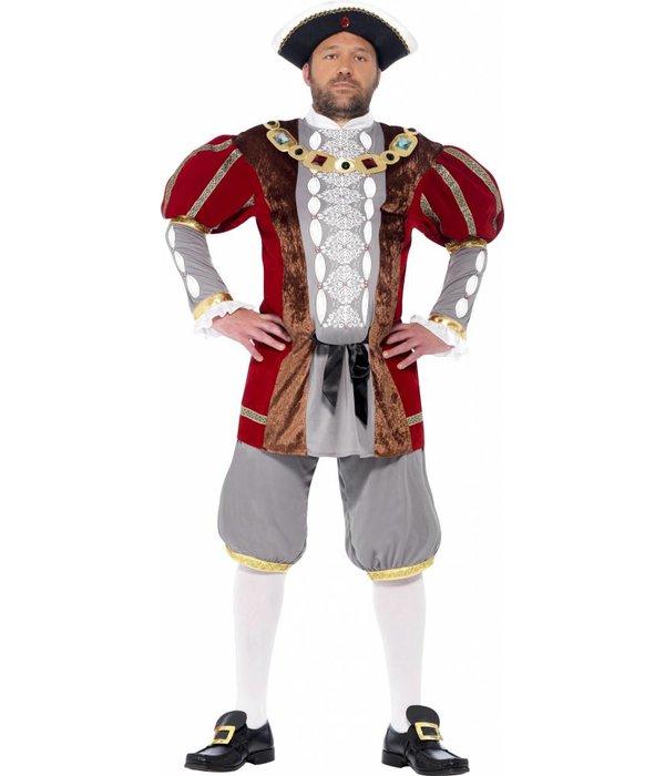 Koning Henry VIII kostuum deluxe