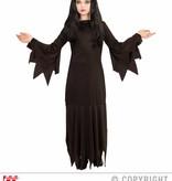 Zwarte Heksenjurk Mortisia kind