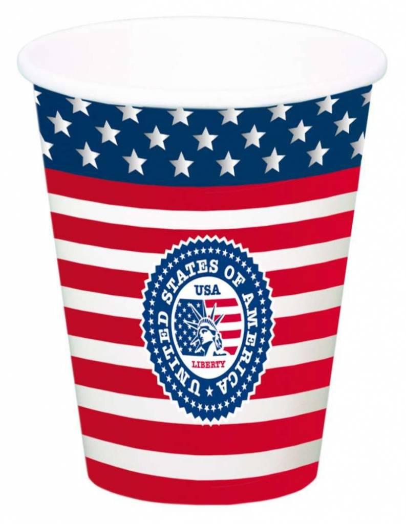 USA Party Bekers 700ml - 8 stuks