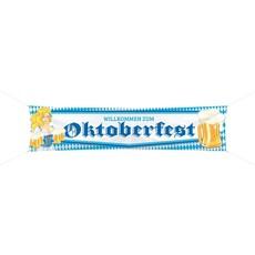 Oktoberfest Bierpullen Spandoek - 180x40cm