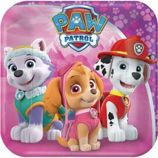 Paw Patrol Borden Roze 18cm 8 stuks