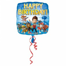 Paw Patrol Happy Birthday folieballon 43cm