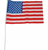 Amerika vlag op stok 30x45cm