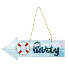 Decoratie Navy party 16x40cm