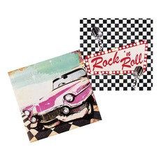 Set 12 Servetten Rock 'n Roll (33 x 33 cm)