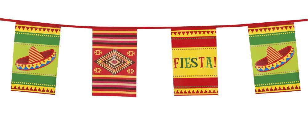 Vlaggenlijn Fiesta Mexico - 10 meter
