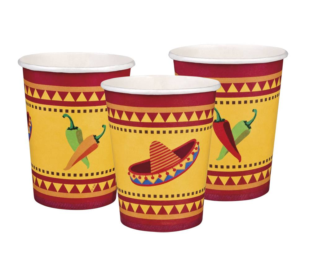 Set 6 Bekertjes Fiesta Mexico (25 cl)