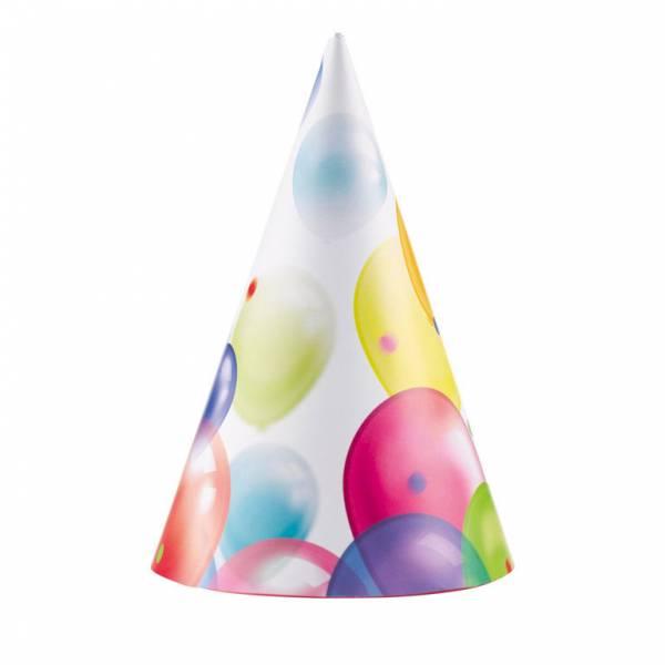 8 Party hoedjes balloons
