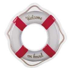 Welcome On Board Boei Wanddeco 58x55cm