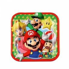 Super Mario gebakbordjes 18cm 8 stuks