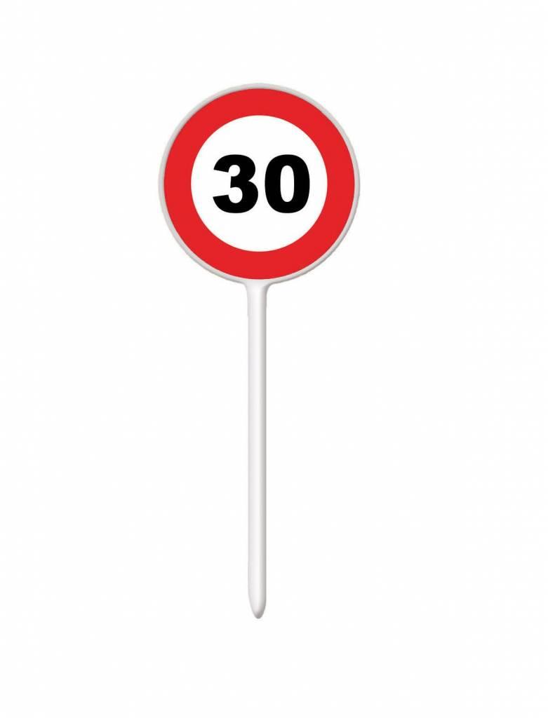 12 coctailprikkers verkeersbord 30 jaar