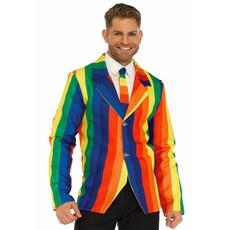 Regenboog colbert met stropdas