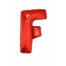 Folieballon Rood Letter 'F' groot