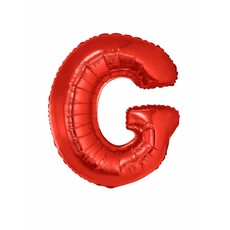 Folieballon Rood Letter 'G' groot