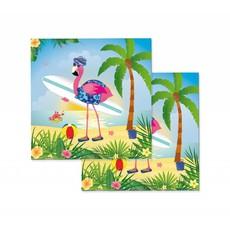 Flamingo Servetten 33x33cm - 20 stuks