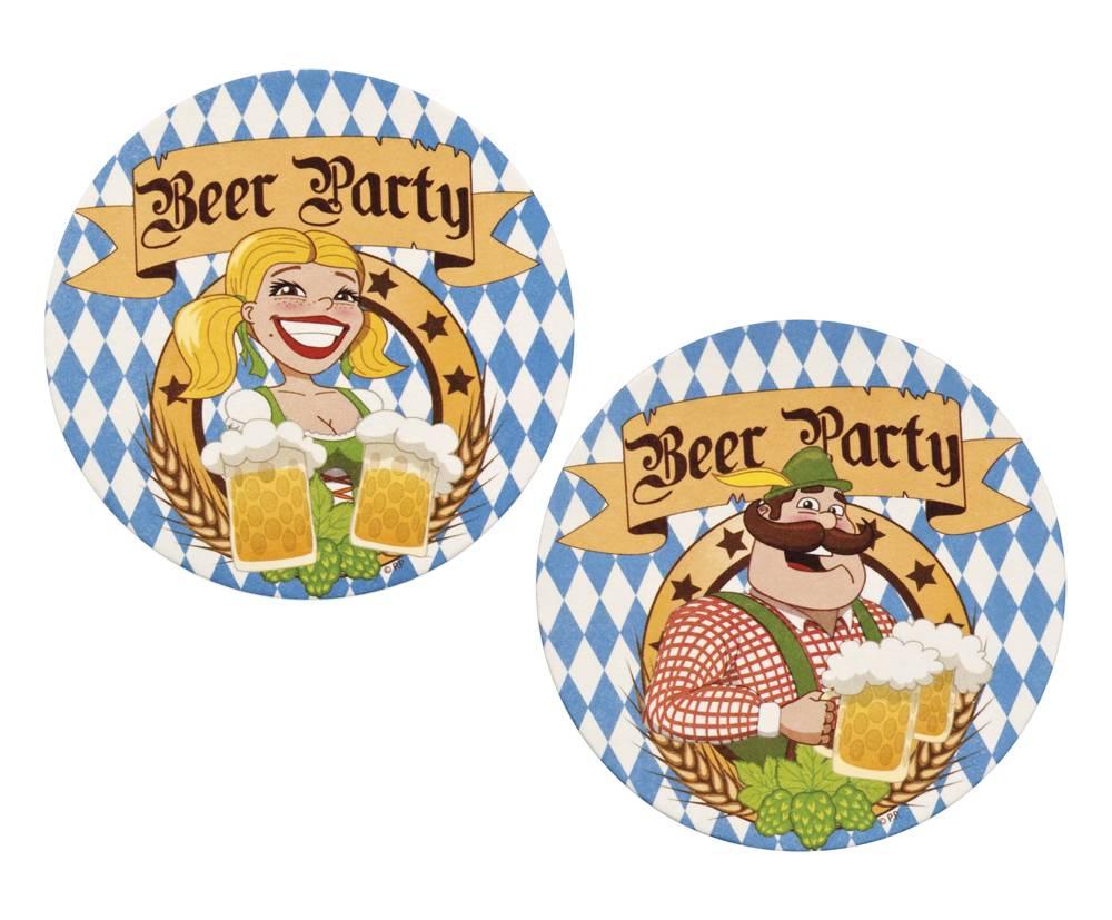 Set 10 Bierviltjes 'Beer Party'