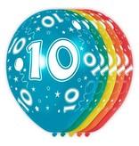 10 Jaar Verjaardag Ballonnen 5 stuks
