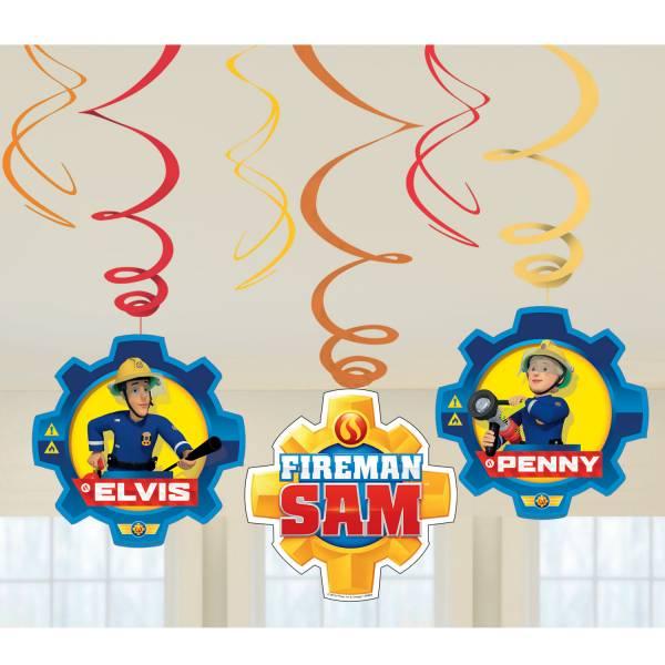 Brandweerman Sam Hangdecoratie Versiering Set 6 delig