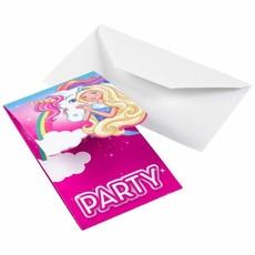 Barbie Uitnodigingen Dreamtopia 8 stuks