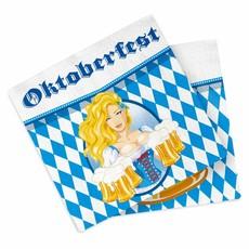 Oktoberfest Bierpullen Servetten 33x33cm - 20 stuks