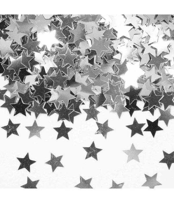 Tafeldecoratie / sierconfetti ster zilver
