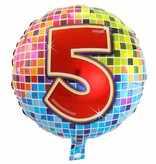 5 jaar Birthday Blocks folieballon - 43 cm