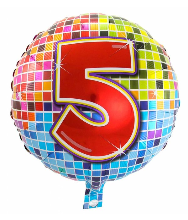 5 jaar Birthday Blocks folieballon - 43 cm