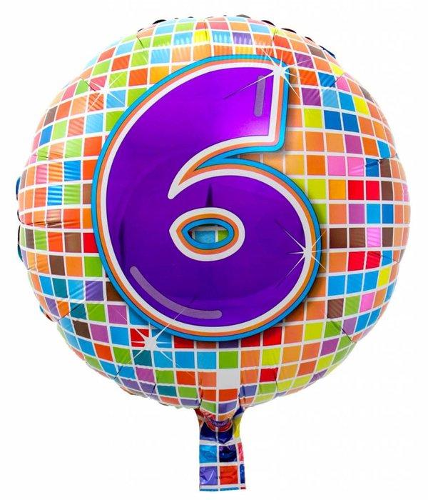 6 jaar Birthday Blocks folieballon - 43 cm