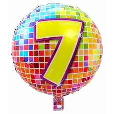 7 jaar Birthday Blocks folieballon - 43 cm
