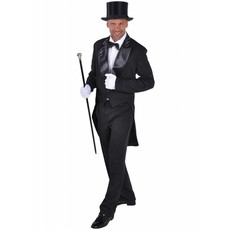 Slipjas zwart heren Cabaret half gevoerd