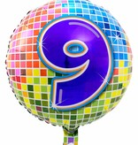 9 jaar Birthday Blocks folieballon - 43 cm