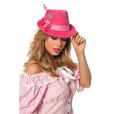 Tirolerhoed dames roze luxe