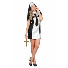 Sexy Nonnenpakje wit/zwart Petronella