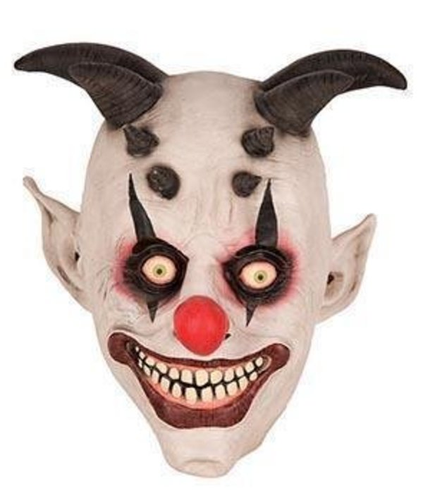 Horror Clown masker horens