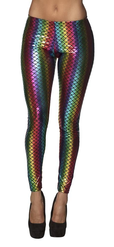 Legging Regenboog zeemeermin stretch