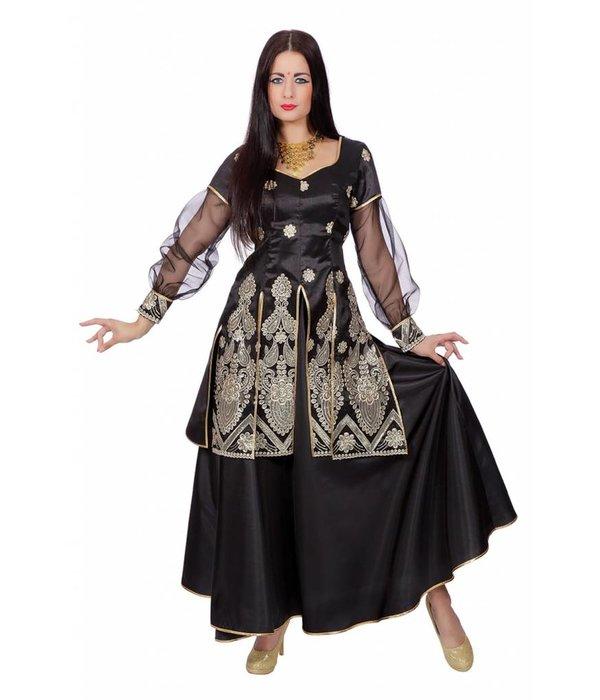Booming Bollywood dames kostuum zwart