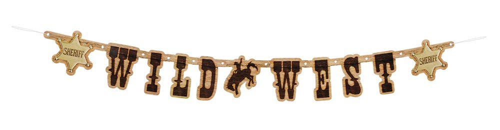 Letterbanner Wild West 110cm
