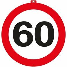 60 Jaar Verkeersbord Deurbord - 47cm