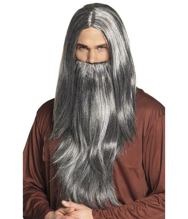 Pruik Magician met baard