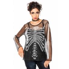 Netshirt Skelet dames