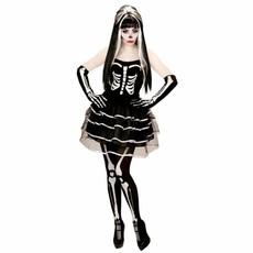Gothic Skelet Vrouw Kostuum