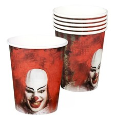 Set 6 Bekertjes Horror IT Clown (25 cl)