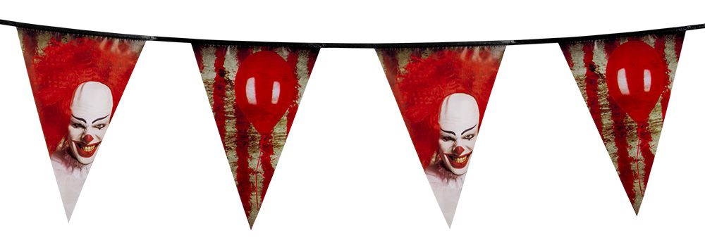 Vlaggenlijn Horror clown (6 m)